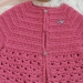 gilet crochet topdown